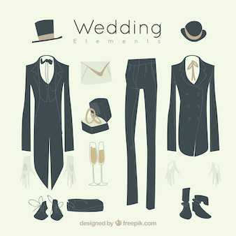 Groom suits with other elements