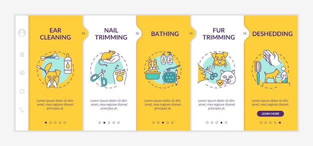 Grooming services types onboarding template