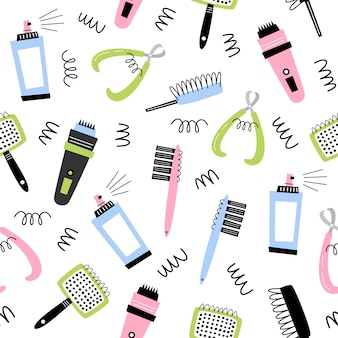 Grooming. vector seamless pattern