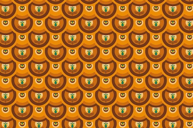 그루비 플로랄 패턴