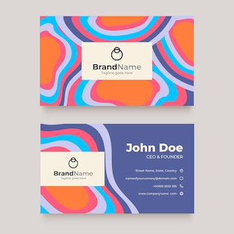 Groovy psychedelic business cards