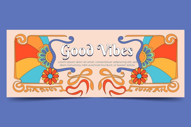 Groovy psychedelic facebook cover