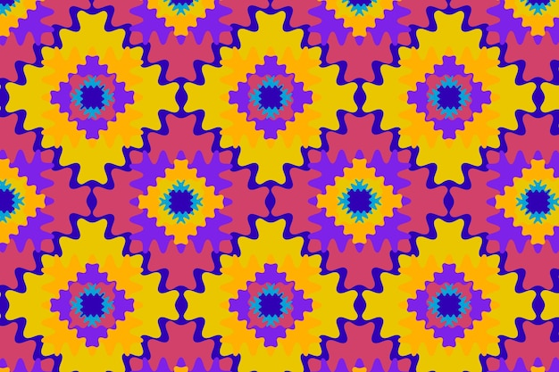 Groovy psychedelic style pattern