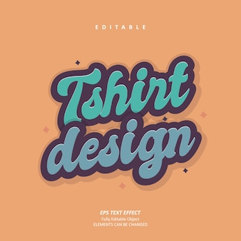 グルーヴィーなtシャツデザインカスタムレトロテキスト効果編集可能なプレミアムプレミアムベクトル