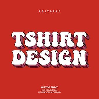 グルーヴィーなtシャツのデザインパーソナライズされたビンテージテキスト効果編集可能なプレミアムプレミアムベクトル