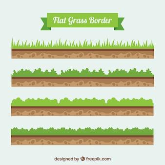 地面や草のバーダーパック