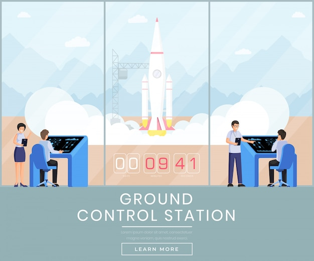 Ground control station web banner template