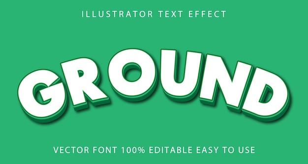 Ground editable text effect