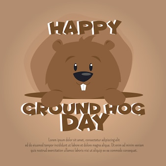 Ground hog day celebration multipurpose poster background