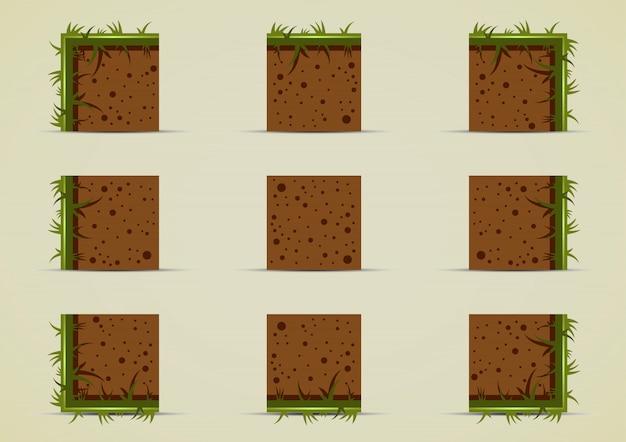 Ground sprites with grass