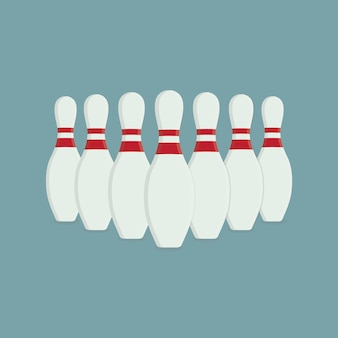 Group of bowling pin