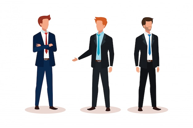 Group of businessmen avatar character