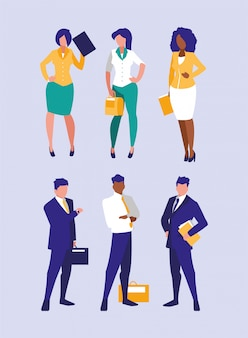 Group of businesspeople illustration