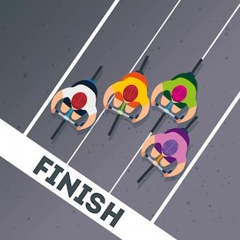 선수권 대회에서 자전거의 그룹