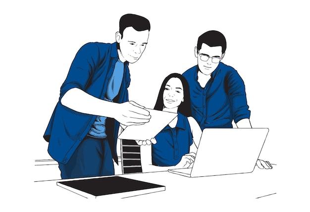 Иллюстрация концепции группового обсуждения