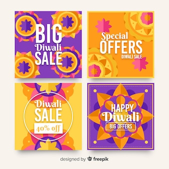 Group of diwali holiday instagram post