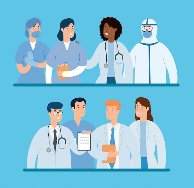 Gruppo di medici per la cura della covide 19