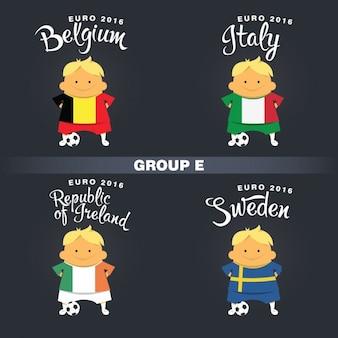 Group e football players