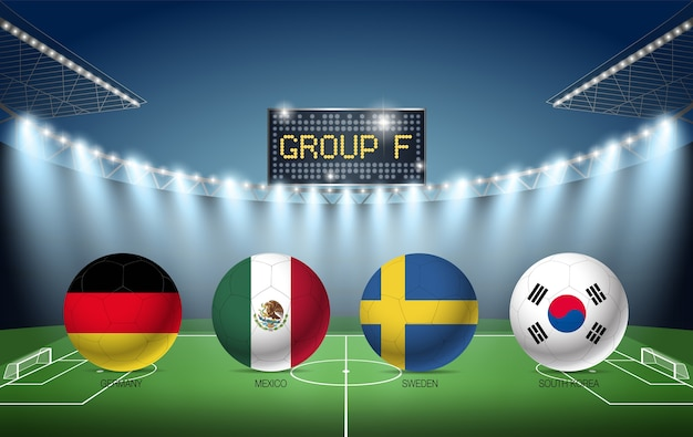 Group f soccer tournament russia 2018 (germany, mexico, sweden, korean republic)