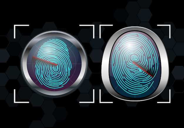 Group of fingerprint scanning identification system