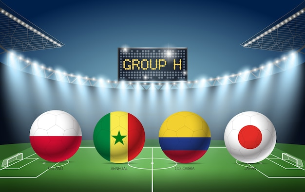 Group h soccer tournament russia 2018 (poland, senegal, colombia, japan)