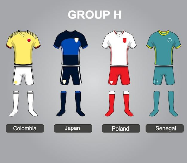 Group h team jersey