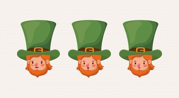 Group of lemprechauns characters