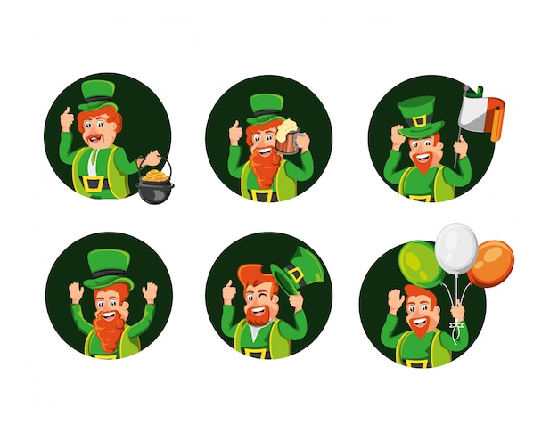 Group leprechauns and set