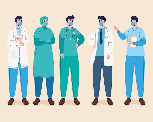 Group of male doctors