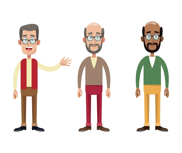 Group male grandfather image