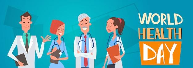 Group medial doctors team clinics hospital world health day concept