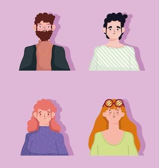 그룹 남성과 여성