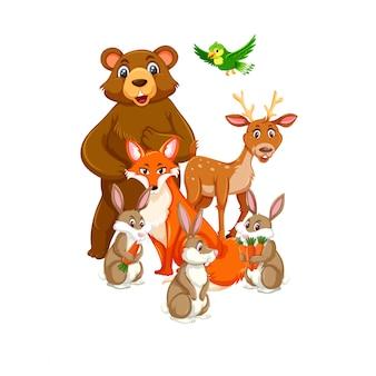 Группа животных персонажа
