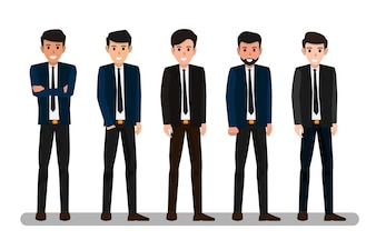 Group of business man vector illustration.