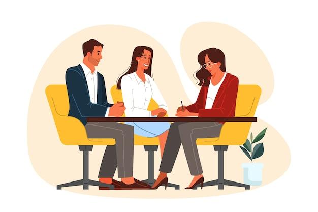 仕事、オフィス会議でのビジネス人々のグループ。