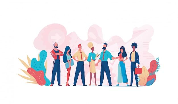 Группа деловых людей совместной работы. бизнес команда