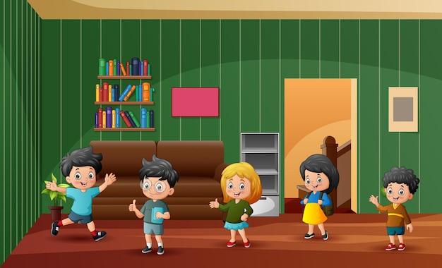家の子供たちのグループ