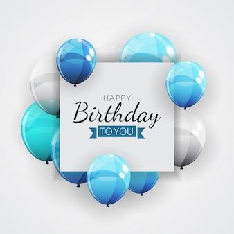 Группа цветной глянцевый гелием шары фон. набор воздушных шаров на день рождения, юбилей, праздничные украшения. иллюстрация Premium векторы