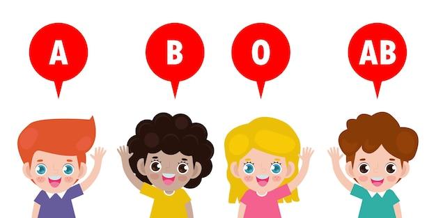 귀여운 아이들과 혈액형 그룹