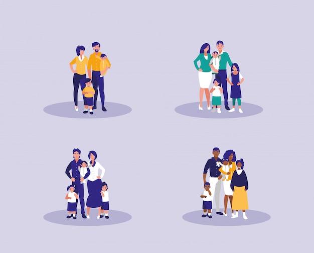 가족 캐릭터 그룹