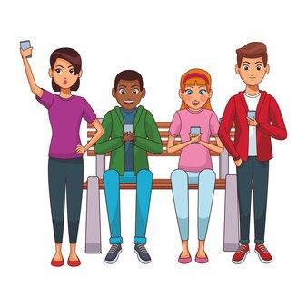 Группа друзей мультфильма