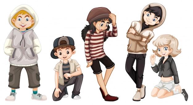 행복 한 청소년 그룹