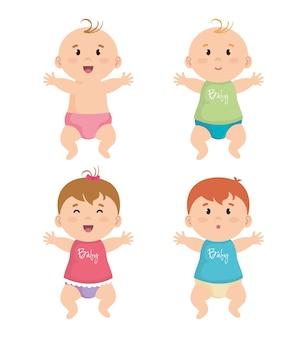 작은 아기의 그룹