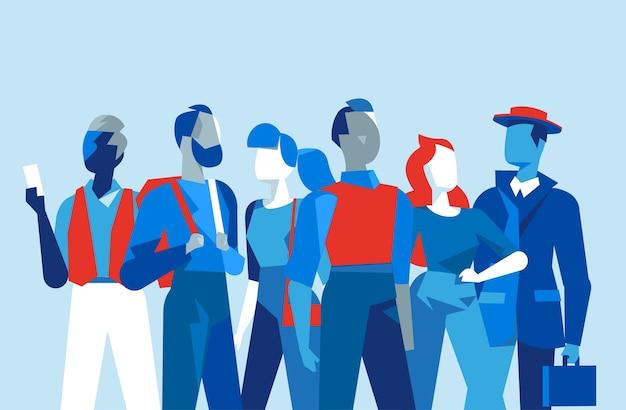 Группа людей, состоящая из мужчин и женщин