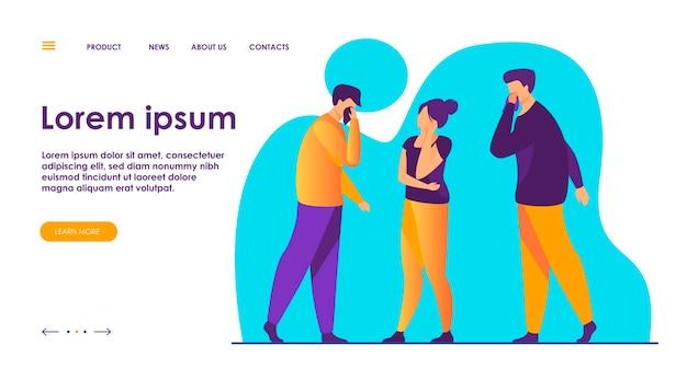 독감 증상으로 고통받는 아픈 사람들의 그룹.