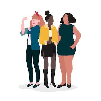 強い女性のグループ