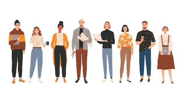 若い創造的な人々の専門家のグループ