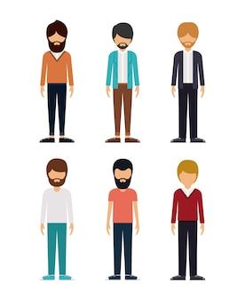 Группа молодых мужчин дизайн