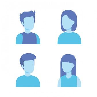 若者のキャラクターのグループ