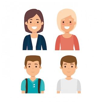 젊은 사람들의 그룹